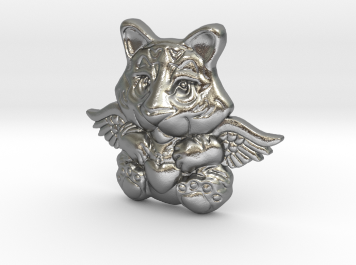 Tiger charm for bracelet 3d printed
