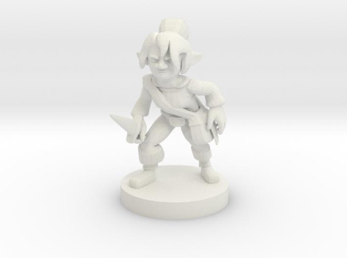 Gnome Female Rogue 3d printed