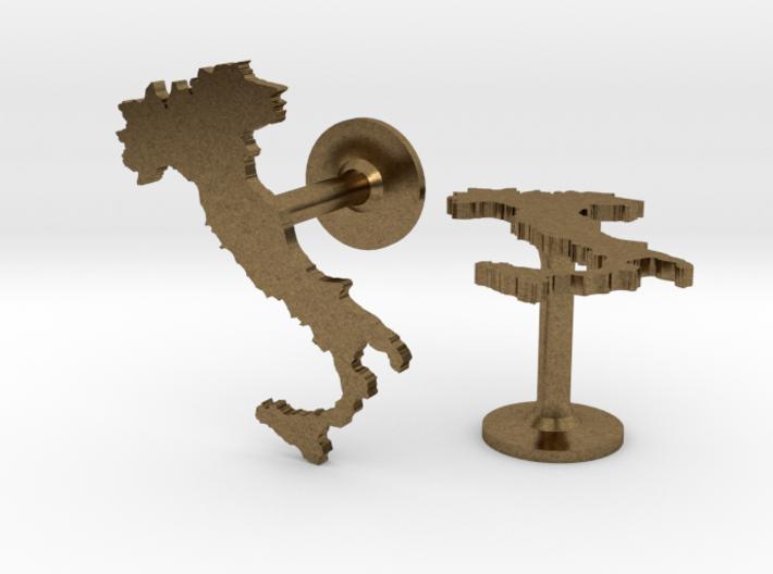 Italy Cufflinks 3d printed
