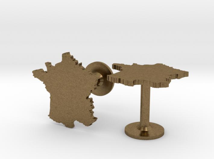 France Cufflinks 3d printed