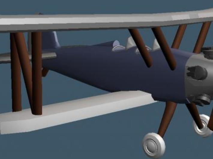Biplane - Z scale 3d printed Render of Front View