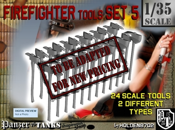 1/35 Firefighter Tools Set5 3d printed