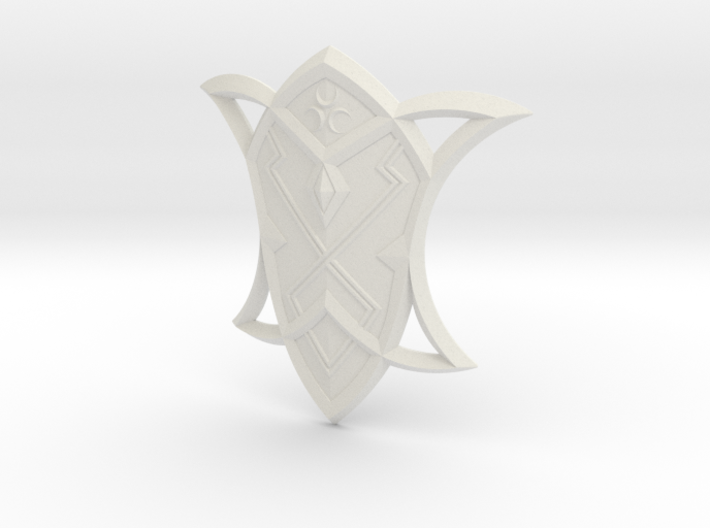 """BotW"" Silver Shield 3d printed"