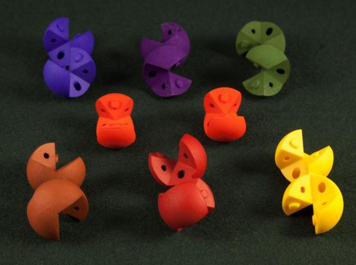 Peanut Deluxe 3cm 3d printed Peanut Deluxe Pieces (J. Rausch photo)