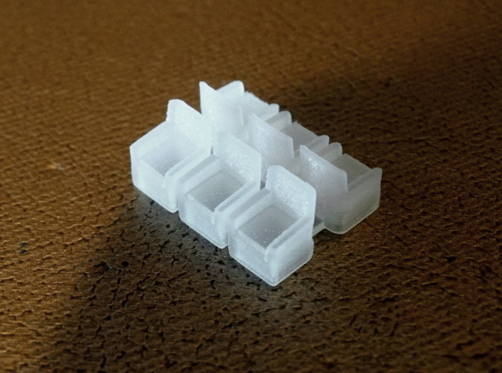 HO Pullman Parlor Car Seating Kit 3d printed One of these smaller sprues is also included per kit.  These simple bucket chairs have myriad sitting room uses.