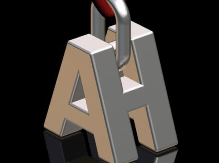 """A & H"" 3d Logotype  3d printed Description"