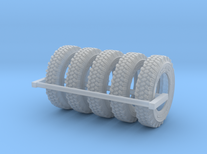1-24 Land Rover 750x16 Tire Set4 3d printed