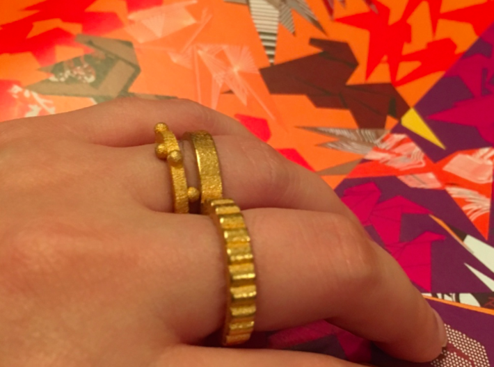 Bury X1 3d printed Bury X1 and Doubles Ring in Gold Plated Steel