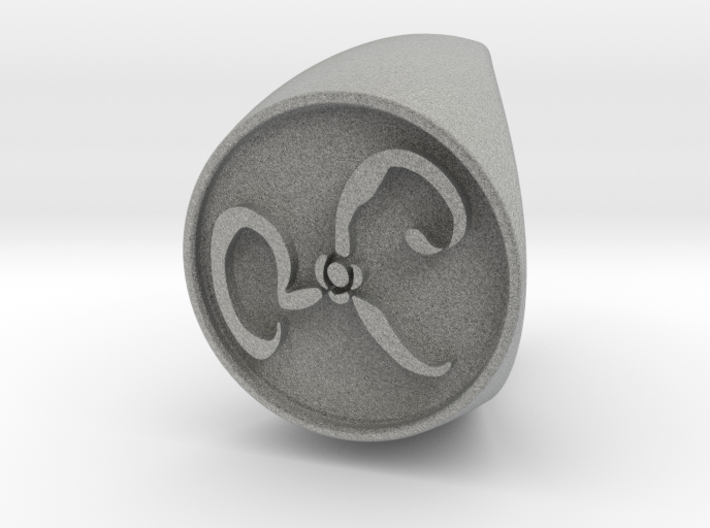 The Yellow Sign Signet Ring Size 6 3d printed