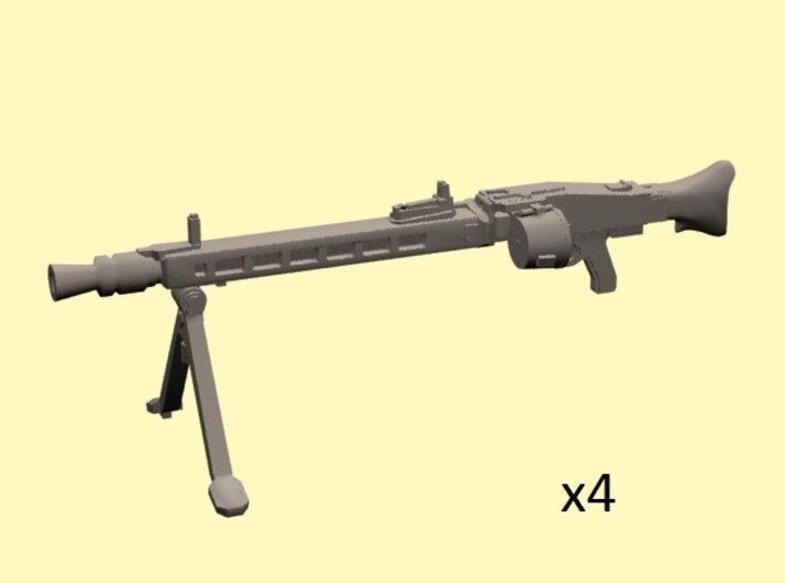 28mm MG-42 enlarged with drum (x4) 3d printed