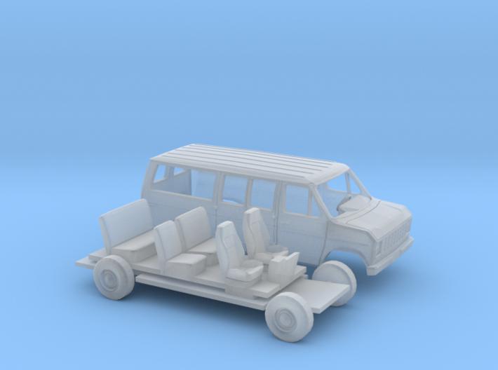 1/160 1975-91 Ford E-Series Van Kit 3d printed