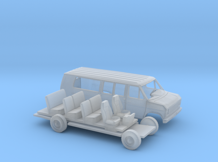 1/87 1975 -91 Ford E Van Ext Kit 3d printed