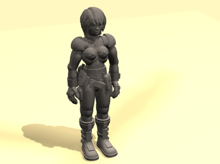 28mm SciFI girl 3d printed