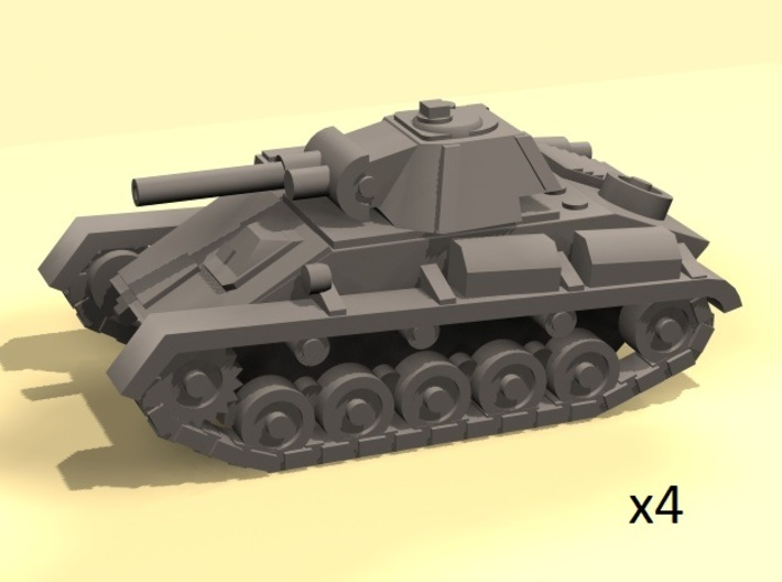 1/100 light tank model T-70 3d printed