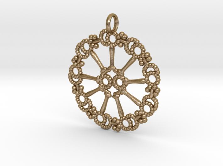 Axoneme Pendant - Science Jewelry 3d printed