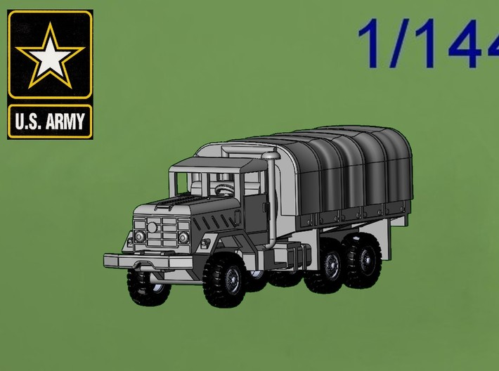 M923 5t with tarp 3d printed 1/144 M923 5 ton Cargo Truck with tarp
