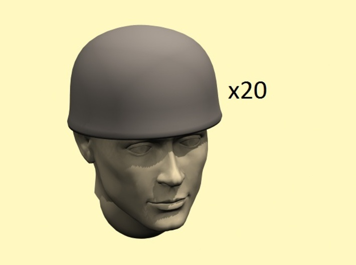 28mm Fallschirmjager helmets 3d printed head not included