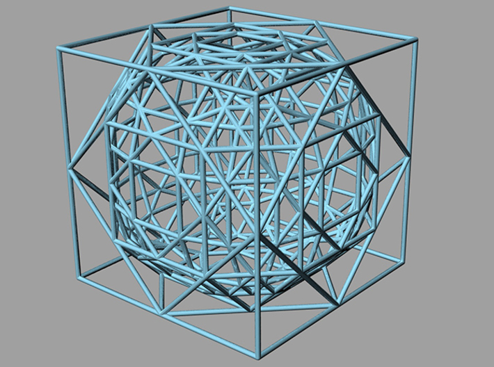 cube to ball 5step-once 3d printed