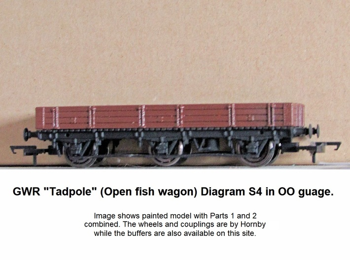 GWR 6 Wheeled Tadpole Part 2 Body 3d printed