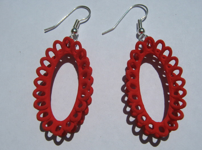Moebius on Oval Earrings 3d printed