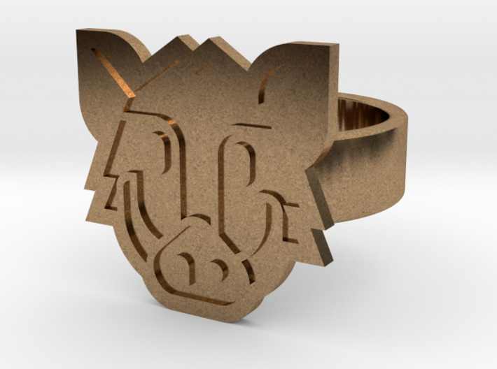 Boar Ring 3d printed