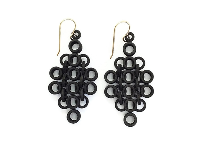 Geometric Statement Earrings 3d printed Statement Earrings by Seriaforma