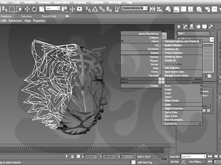 Modern Faux Taxidermy - Cheetah Head (M) 3d printed
