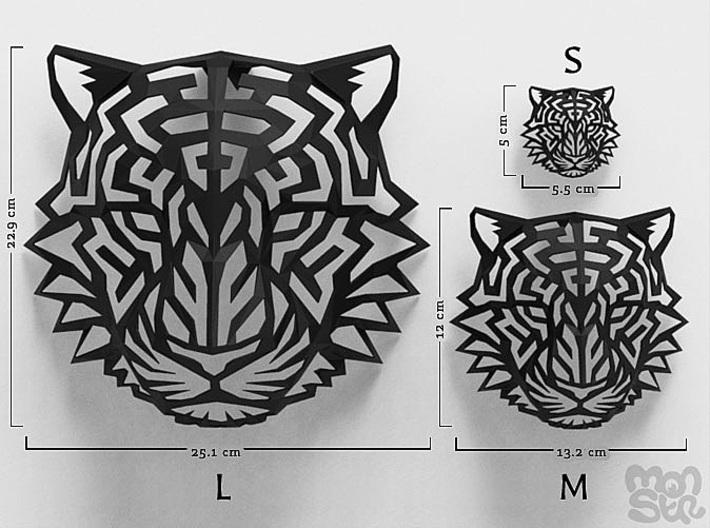 Modern Faux Taxidermy - Jaguar Head (S) 3d printed