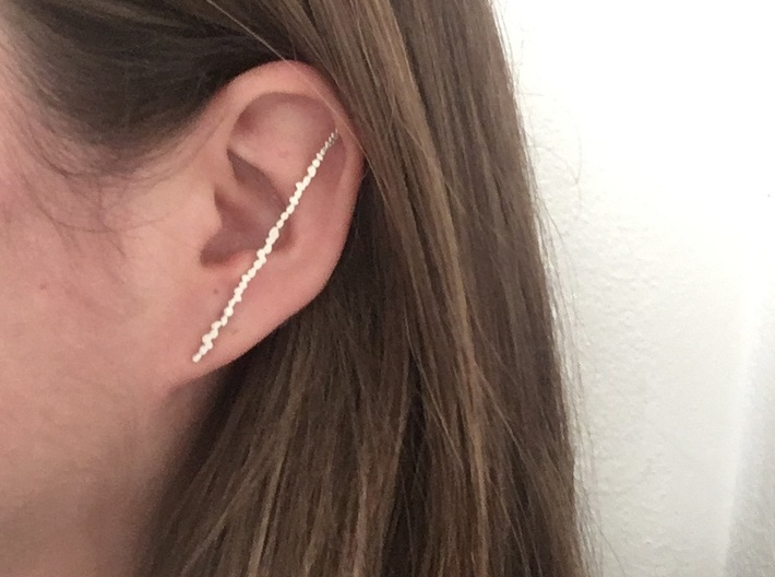 Peble Xl Earrings 3d printed Wear inside ear for a different look.