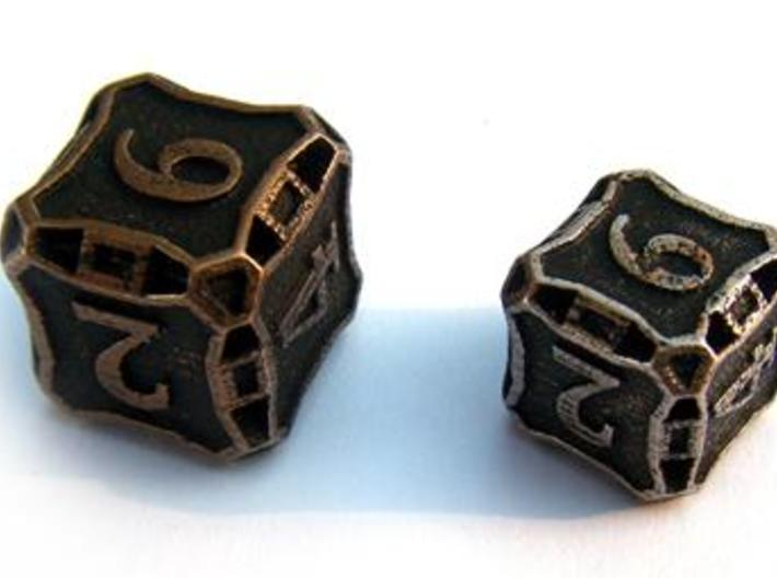 Large Premier Die6 3d printed Compared to a standard-sized Die6