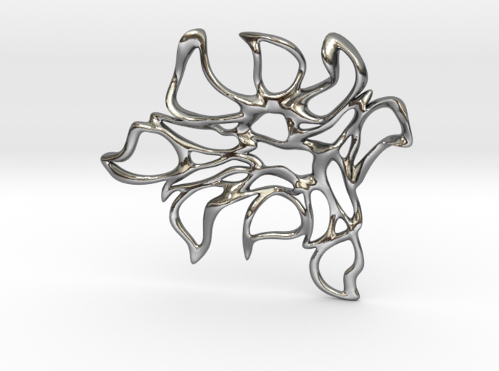 Abstract Flower Pendant  3d printed