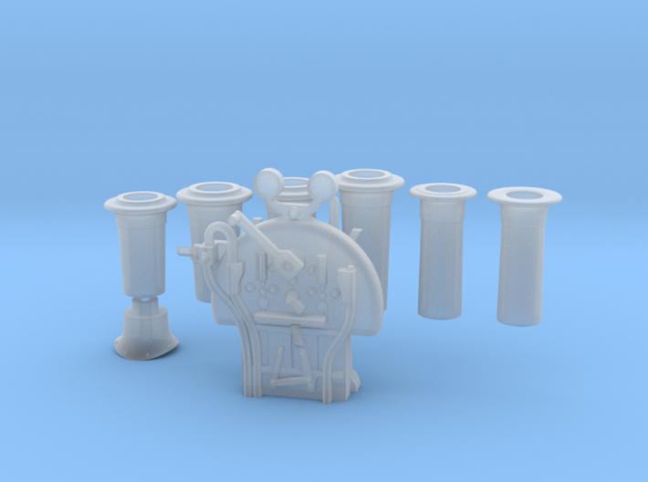 FR J1/E1/SPC - Chimneys & Backhead Completion 3d printed