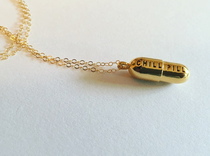Chill Pill Pendant 3d printed