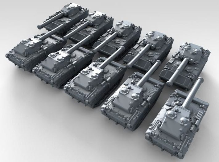 1/600 French AMX-10P PAC 90 IFV x10 3d printed 3d render showing product detail
