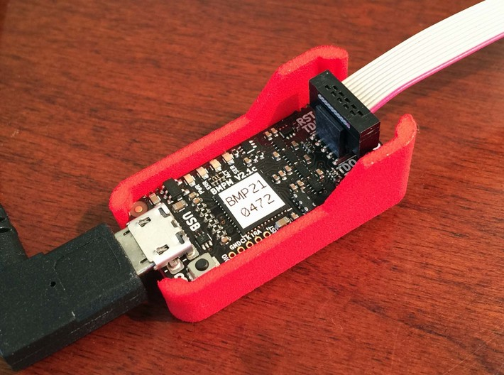 Case - Black Magic Probe - With Fins 3d printed Clearance for cables