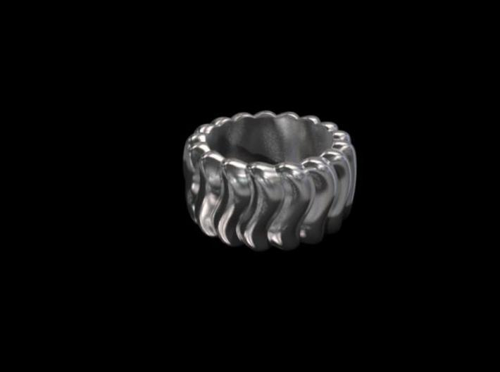 Wavy Ring 3d printed Render