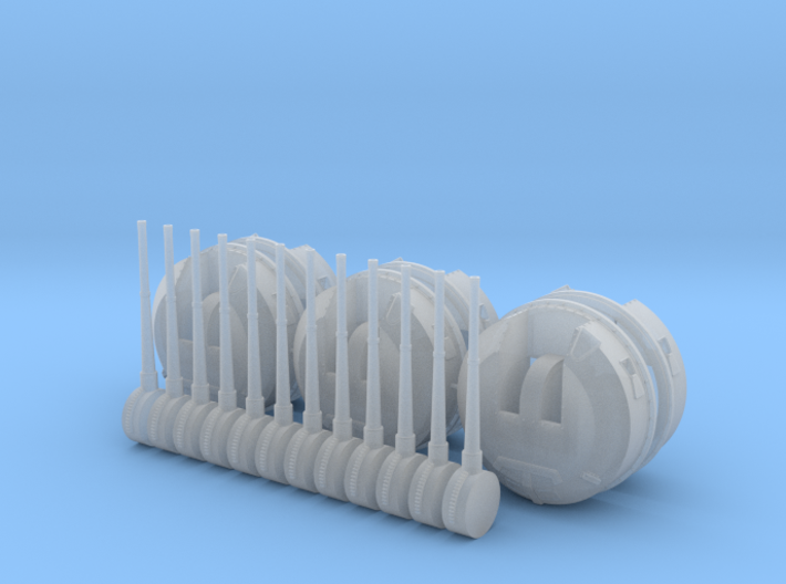 "1/100 4.5"" 45 (11.4cm) QF MKII BD x6 3d printed"