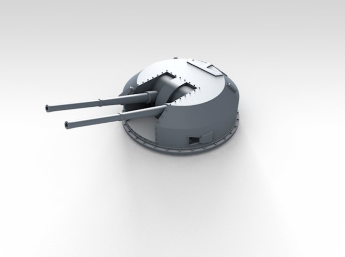 """1/100 4.5"""" 45 (11.4cm) QF MKII BD x6 3d printed 3d render showing product detail"""