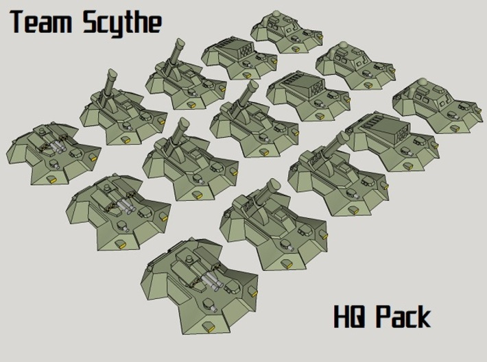 """Team Scythe"" 3mm Anti-Grav HQ Group (15pcs) 3d printed"