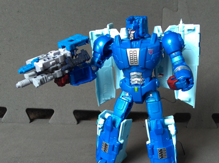 """MicroSlinger """"Uproar"""" 3d printed Uproar weapon mode, combined with Squall (sold separately)."""