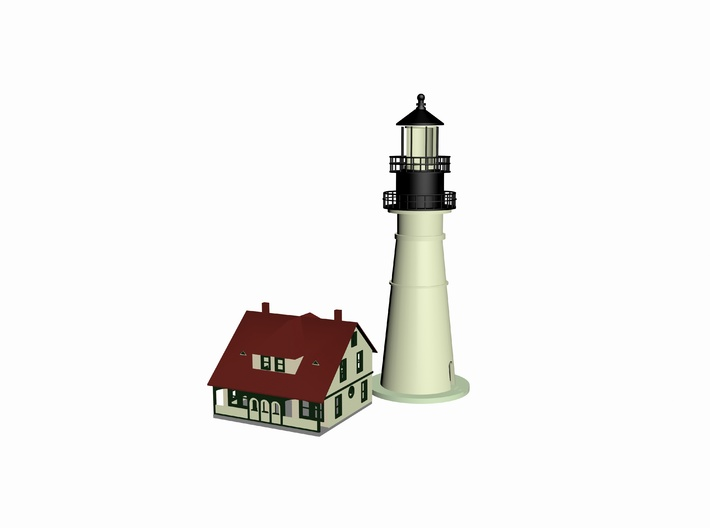 Lighthouse 3d printed 3 D Max 2014 Drawing by Walter Smith