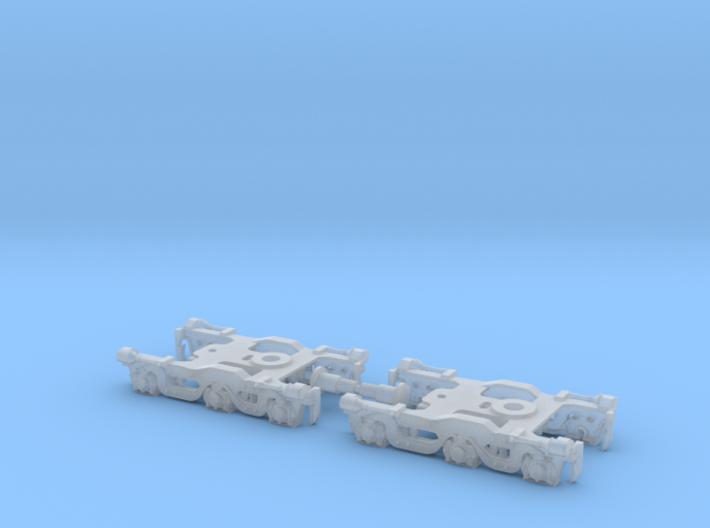 Alco Dummy Tri-Mount Trucks - 1:160 - N Scale 3d printed