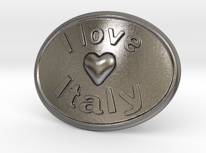 I Love Italy Belt Buckle 3d printed