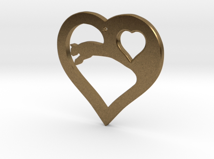 The Eager Heart (precious metal pendant) 3d printed