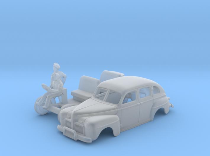 American Staff Car 1942 - (1:120) TT 3d printed