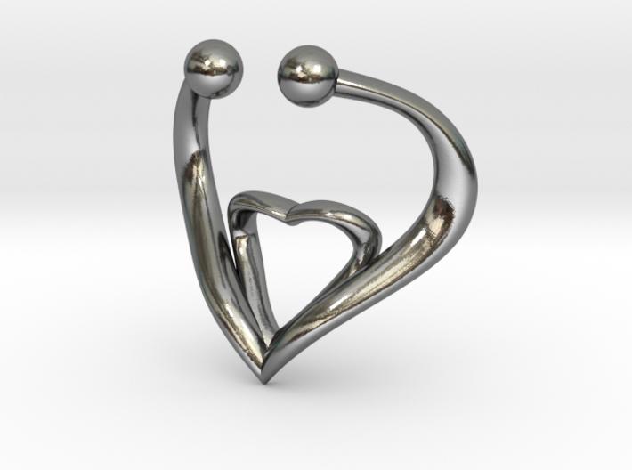The Heart Fake septum ring nose, ring septum jewel 3d printed