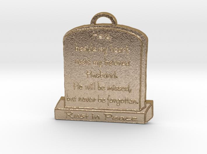 Memorial Pendant 3d printed