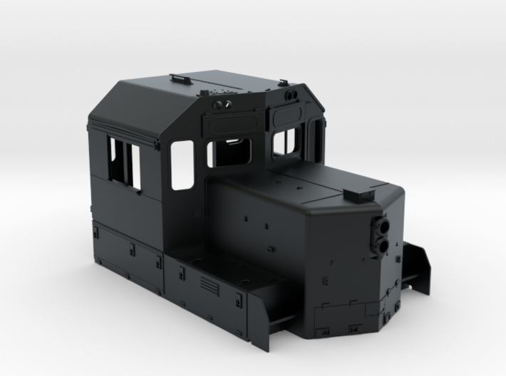 CB0019 CN SD40U Cab with Class Lights 1/87.1 3d printed