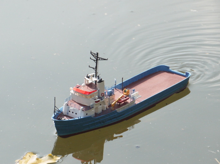MV Anticosti Hull, Decks and GillJet (RC, 1:200) 3d printed assembled model out on the lake
