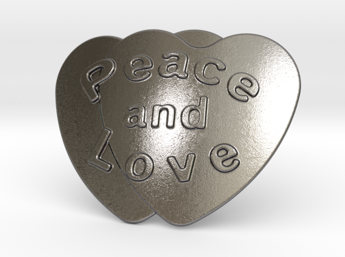 Peace And Love Belt Buckle 3d printed